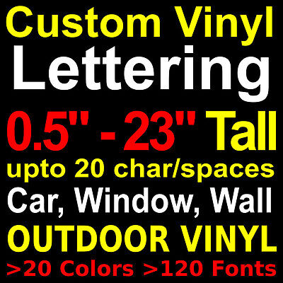 custom vinyl lettering decals stickers custom wall car window decal letters name