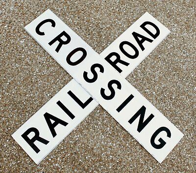"""Double Sided Railroad Crossing Crossbuck/Sign Reflective Aluminum 48"""" x 9"""""""