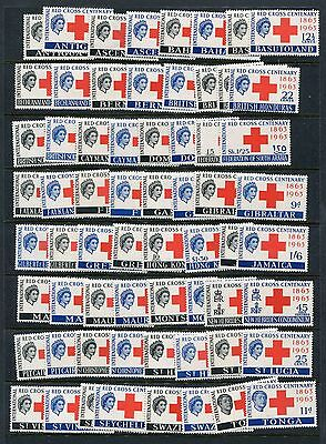 Red Cross British Omnibus 1963 - Complete Per Scott - NH With Toning - See Scans