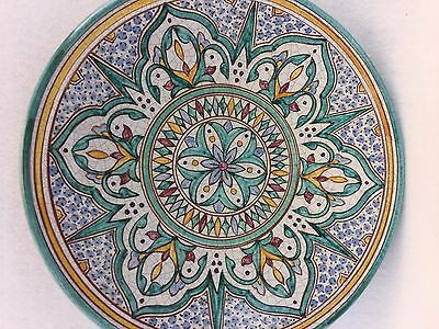 Vintage hand painted Turkish Charger Plate