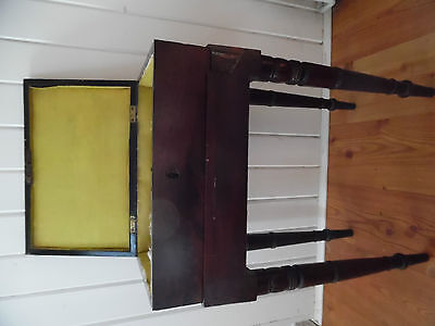 Antique Sewing Box/work Box With Legs