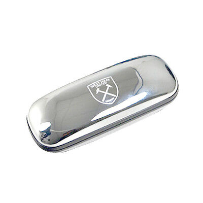 Official Licensed Football Product West Ham United Chrome Glasses Case Gift New