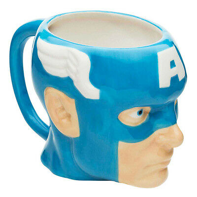 Official Licensed Product Captain America Mug 3D Cup Face Tea Coffee Gift New