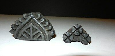Vintage Indian Hand Carved Wooden Textile Printing Block Stamp Rare    11