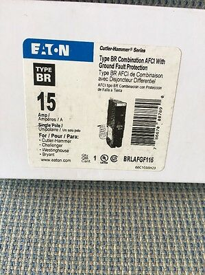 Eaton/Cutler Hammer BRLAFGF115 Combination Arc Fault And Ground Fault Breakers