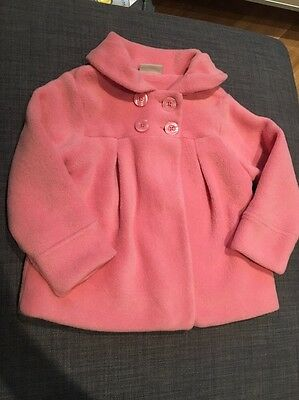 NEXT Girls Pink Winter Fleece Jacket/coat.  Age 4-5 Years