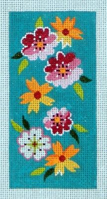 Lee Flower HP Needlepoint 18 ct canvas