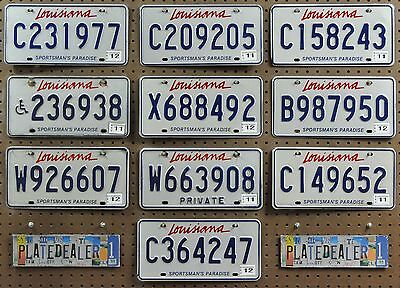 10 LOUISIANA Sportsman's Paradise License Plates Tags Signs Gift Shops LOT 977