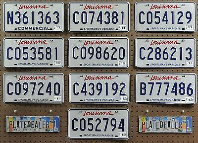 10 LOUISIANA Sportsman's Paradise License Plates Tags Signs Gift Shops LOT 363