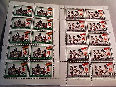 Salvation Army -  TWO UNHINGED STAMP SHEETS FROM ANTIGUA & BARBUDA