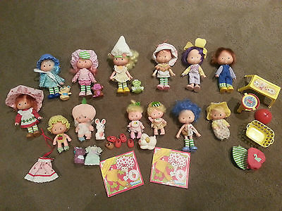 13 Vintage Strawberry Shortcake Dolls  Plus Animals Etc