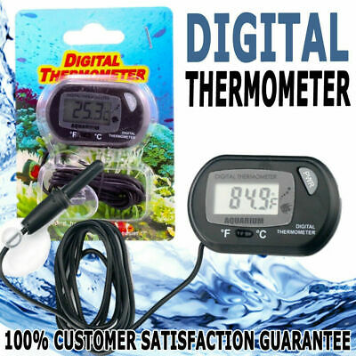Fish Tank Digital Thermometer with Probe LCD Themometer Gauge