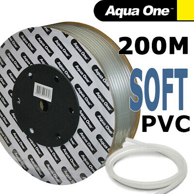 Aqua One Aquarium Soft Silicon Airline Hose Air Line Tubing 4mm for Pumps