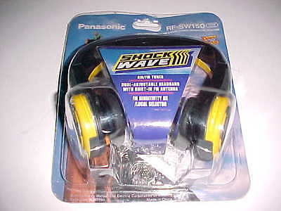 Panasonic Shock Wave AM FM Stereo Headphone Receiver RF-SW150 Yellow Black New