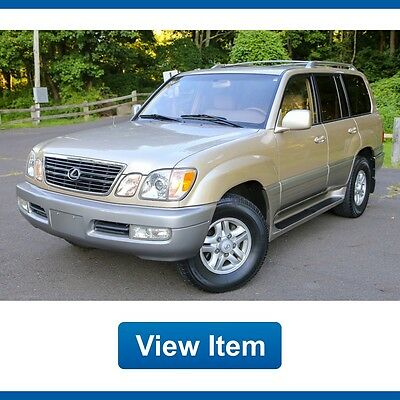 1999 Lexus LX Base Sport Utility 4-Door 1999 Lexus LX470 AWD V8 Super Low 80K Mi Serviced Leather 3rd Row Carfax LX 470