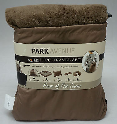 Park Avenue 5 Piece Travel Set Light Brown