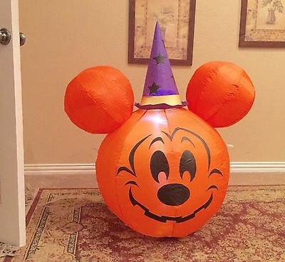 Gemmy Halloween Mickey Mouse Pumpkin Inflatable Airblown