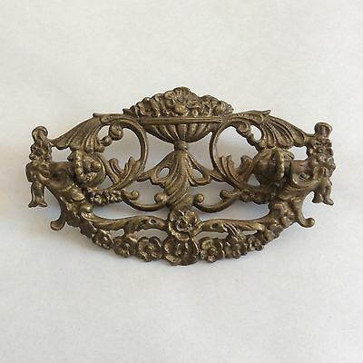 Victorian Antique Ornate Single Drawer Pull Handle Restoration Piece 4-3/4""