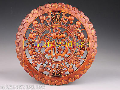 Superb Wood Carving Screen Classic Blessing Collectable  Decoration