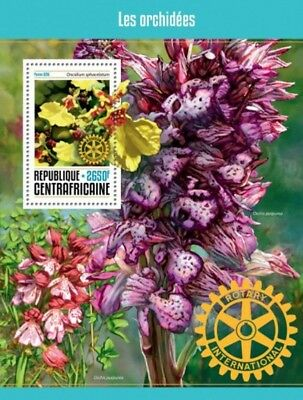 Central Africa - 2016 Rotary & Orchids - Souvenir Sheet - CA16612b