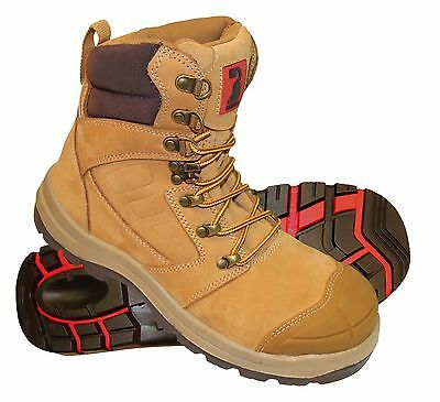 Size 6 - 13 Bullworks KEW Men's Steel Cap Work Safety Boots - WHEAT