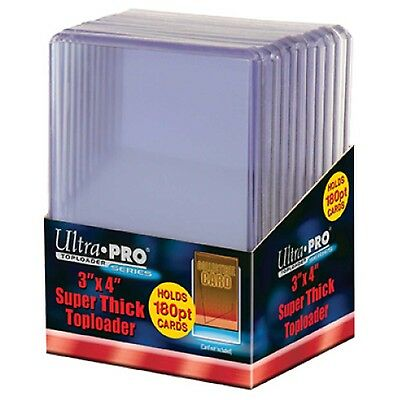 """UltraPro Ultra Pro Toploader Trading Card Protector 180pt 3x4"""" Pack of 10 THICK"""