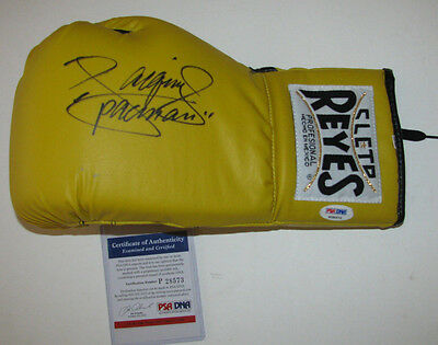 "MANNY ""Pacman"" PACQUIAO Signed Yellow Cleto Reyes Glove - Autographed PSA/DNA"