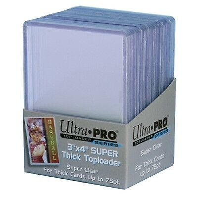 "UltraPro Ultra Pro Toploader Trading Card Protector 75pt 3x4"" Pack of 25 NEW"