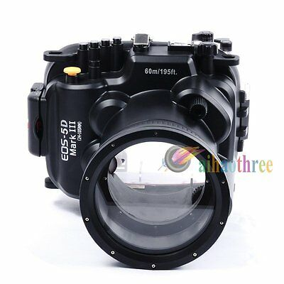 Meikon 60m/195ft Underwater Waterproof Diving Case For Canon 5DIII 5D3 24-105mm