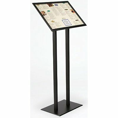 Store Sign Holders Displays2go Sign Stand, 23 x 48 x 11-1/2 Inches, Black Finish