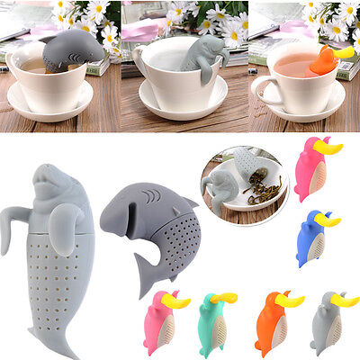 Cute Silicone Tae Infusers Loose Tea Leaf Strainer Herbal Spice Filter Diffuser
