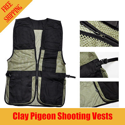 M-L  Hunter Clay Target Pigeon Shooting Vest With Recoil Pad And Shell Pocket