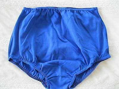 "Ladies XL GYMPHLEX PLAIN 100% Quality Nylon Full Sports Briefs (W 30-38"") NEW!"
