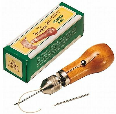 Speedy Stitcher Sewing Awl for Leather and Fabrics with Two Needles