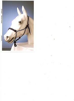 Rope Halter with contrasting stitched in noseband **FREE POSTAGE**