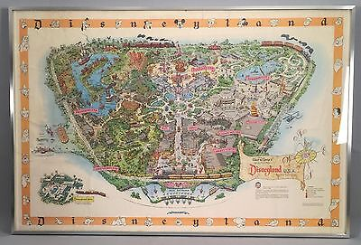 "1958 Disneyland Map - Version A - 30"" x 45"" Rolled Framed"