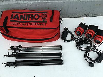 Ianiro gulliver 30 daylight dimmable 300w lighting kit with stands and soft bag