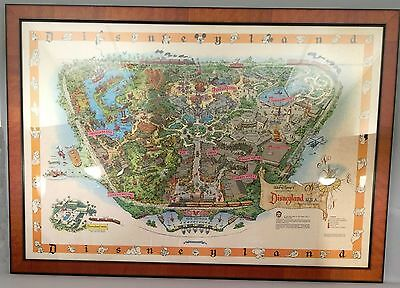 """1958 Disneyland Map - Version A - 30"""" x 45"""" Rolled - Excellent Condition"""