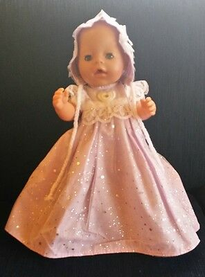 "Gorgeous Baby Born Doll Has Blue Eyes & Comes With 2 Beautiful Outfits (16""-17"")"