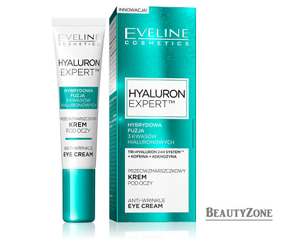EVELINE NEW HYALURON SECOND GENERATION CONCENTRATED ANTI-WRINKLE EYE CREAM 15 ml