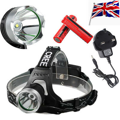 5000LM CREE XM-L T6 LED Headlamp HeadLight Rechargeable Head Torch 2x18650 CH