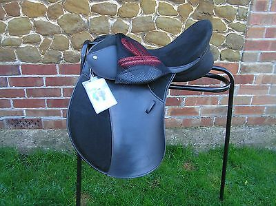 "THOROWGOOD T4 GP Saddle171/2"" Wide fit - black *NOT* with changeable gullet"
