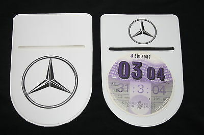 MERCEDES BENZ   TAX DISC HOLDER  - Self-Adhesive with Double Sided Logo!