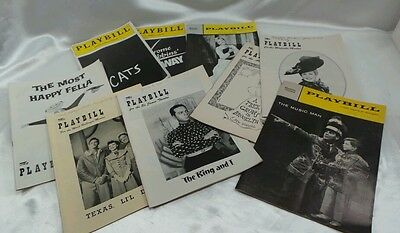 Lot of 9 Playbill New York 50's 60's 80s Mary Martin Shirley Booth The Music Man