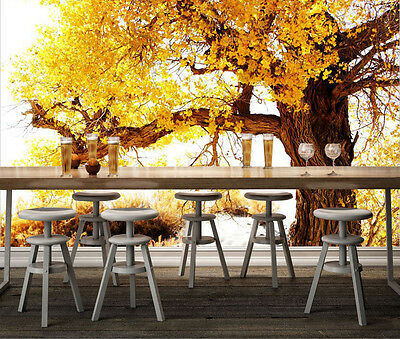 3D Beautiful Big And Old Tree Wall Paper Print Decal Wall Deco Indoor wall Mural