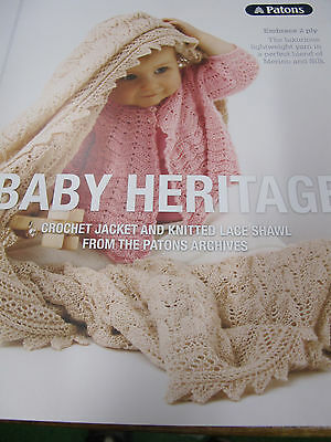 Patons Baby Heritage Knitting/crochet Book No 0004