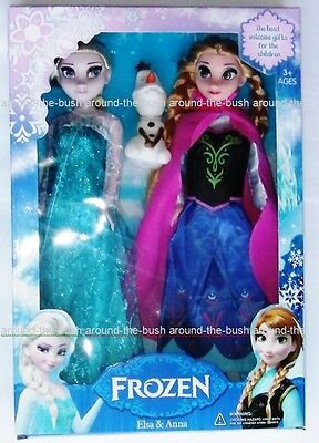 Frozen Anna, Els and Olaf Toys Princess Doll (Set of 3)