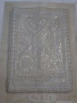 Vintage Chalkware Plaster Mold Jesus My Peace I Give Unto You Wall Hanging