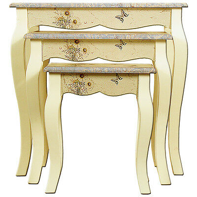 """""""Summer Meadow"""" Home Decor - Nest of 3 Tables"""