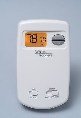 White Rodgers 1E78-144 Non-Programmable Thermostat, 24 Volt or Millivolt system